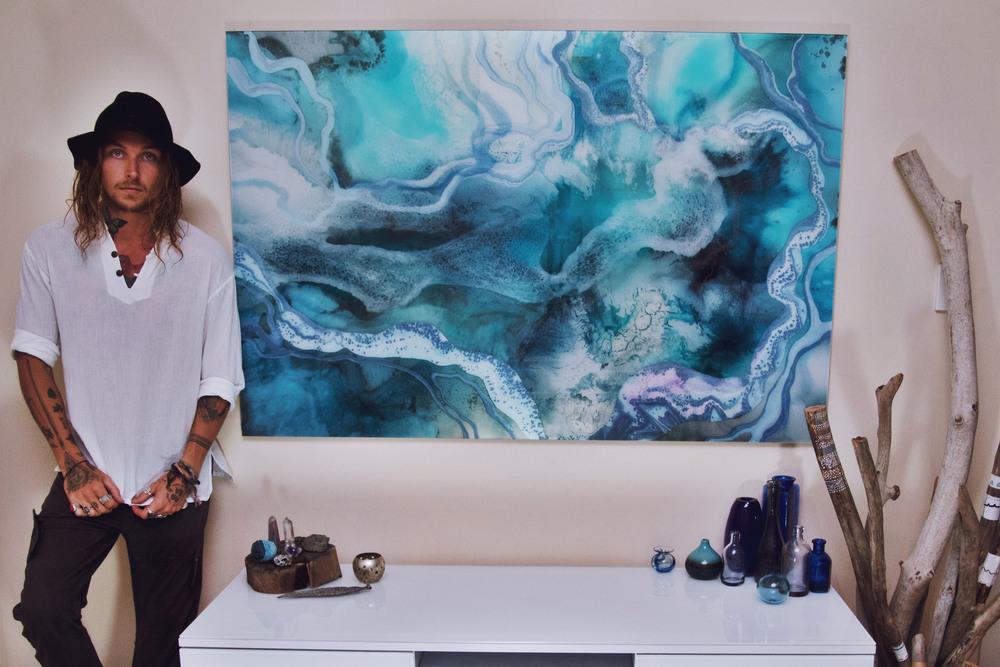 'My New World' acrylic piece - 40' x 60'.