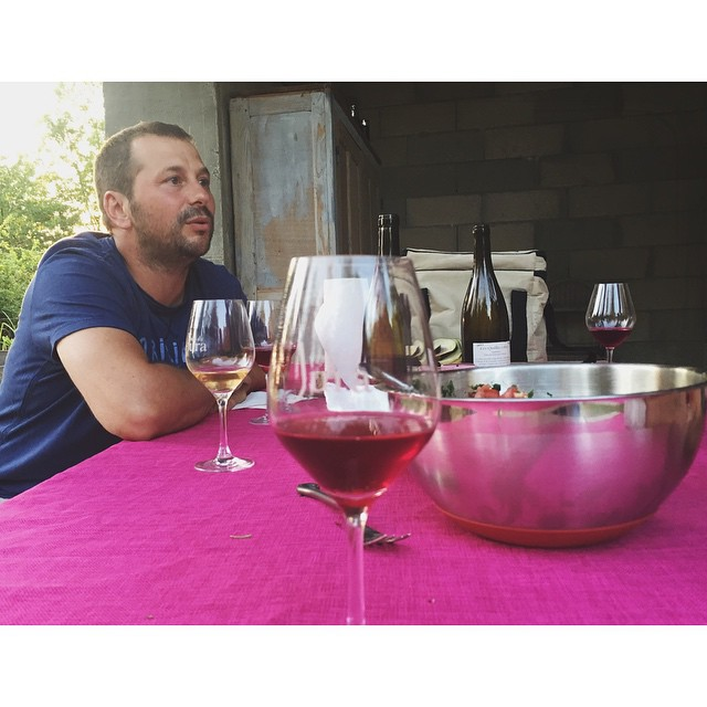 Raphaël Monnier and his wine