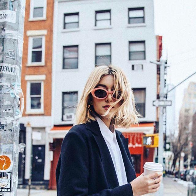 New York minute with @carmengracehamilton wearing @elizandjames eyewear #bonelpr #elizabethandjames