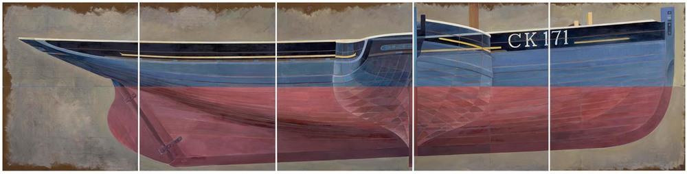 Colchester Fishing Smack, 153 x 610cm (oil on board in 5 panels) © James Dodds