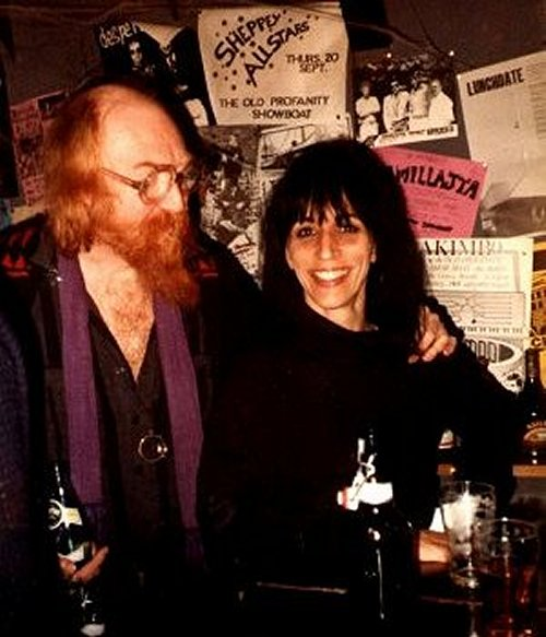 Ki Longfellow-Stanshall and partner Vivian Stanshall in the early days.