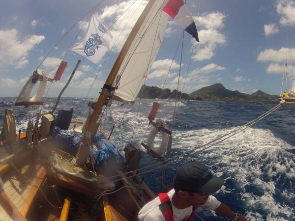 Taken on board Dorade in the Caribbean 600 courtesy of Dorade's crew.