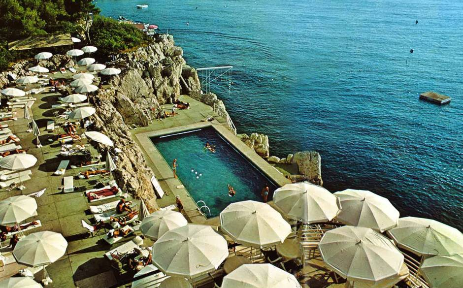 Hotel du Cap-Eden-Roc, Antibes, France in the 1970's