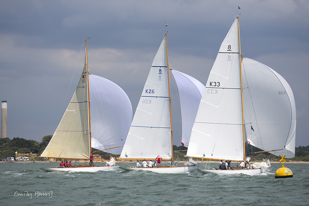 Eight Metres racing in the Solent during BCYC 2016 © Emily Harris
