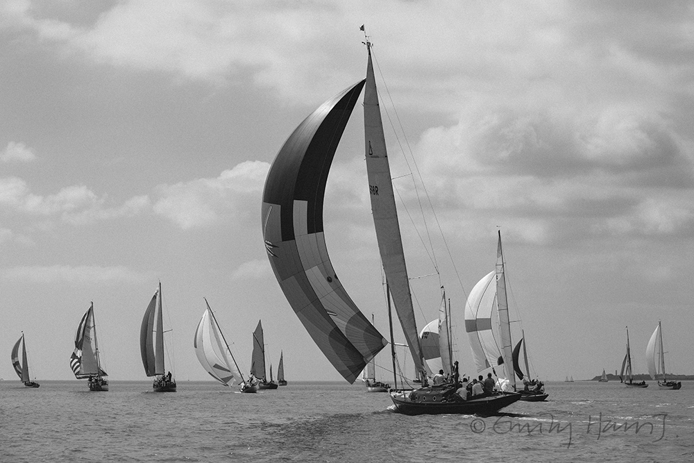 Classic yacht racing regatta from Levington, Suffolk