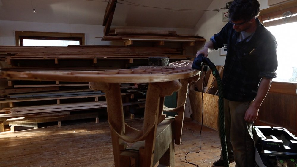 Emily Harris seeks to find out the craft of making wooden surfboards at Lignum Surfboards and why using Festool tools is key in their manufacturing.