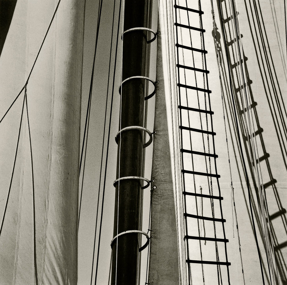 'Shadows of the Rigging', 1998. Part of the series 'Vintage Sail Detail' by Michael Kahn. ©Michael Kahn