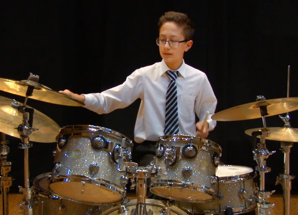 Playing Drum - Forte School of Music