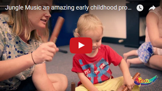 Next Video: - Jungle Music - our Early Childhood program encourages very young children to experiment and play with instruments and singing in a class environment - great for parents and grandparents too!