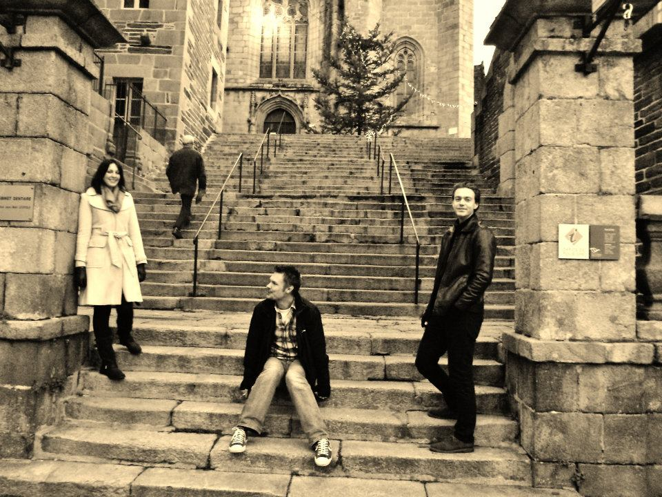 Larking around in France pretending we were posing for 'naff album covers'