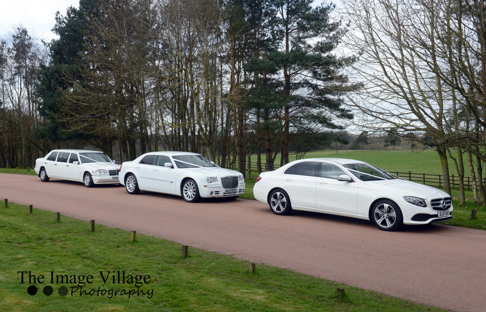 Two Cars & Limo - Our Mercedes E-Class Bridal Car Accompanied By Our Stunning Chrysler 300C & Mercedes Limo From Only £595