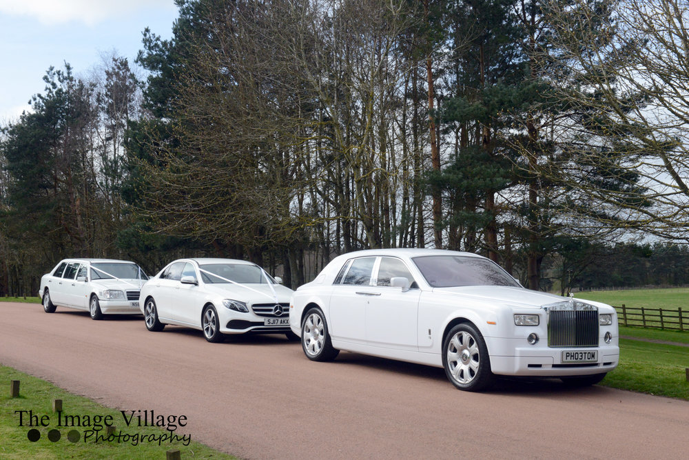 Rolls Royce Phantom, Car & Limo - Our Amazing Rolls Royce Phantom Accompanied By Our Mercedes E-Class and Mercedes Limo From Only £1395.