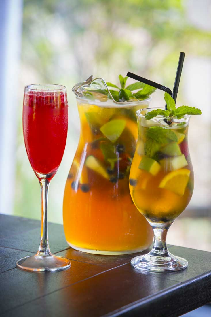 Our Sundowners are all served by the glass or in pitchers!