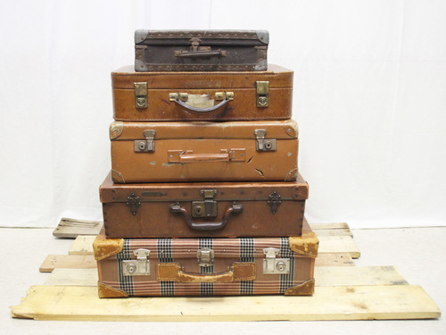 Vintage Suitcases (Stack of 5)