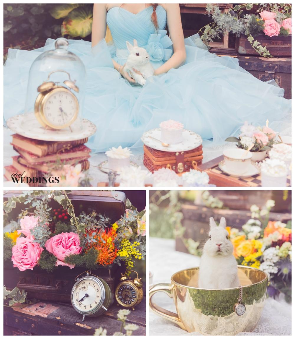 Alice In Wonderland Themed Wedding Shoot