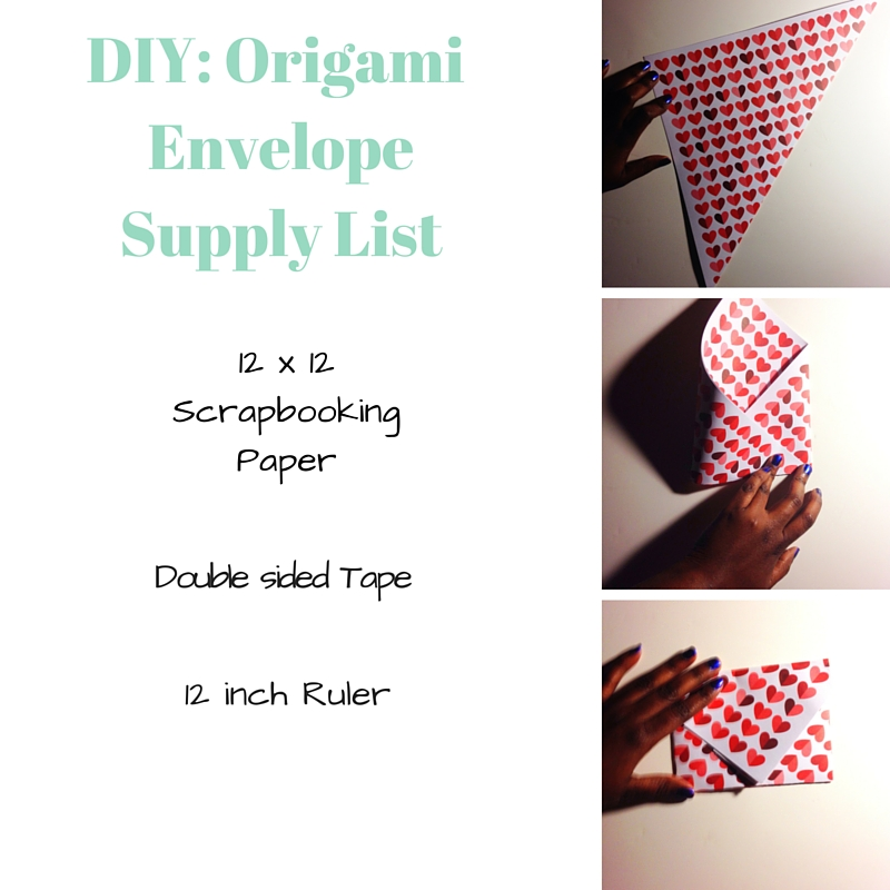 Origami Envelope Supply List