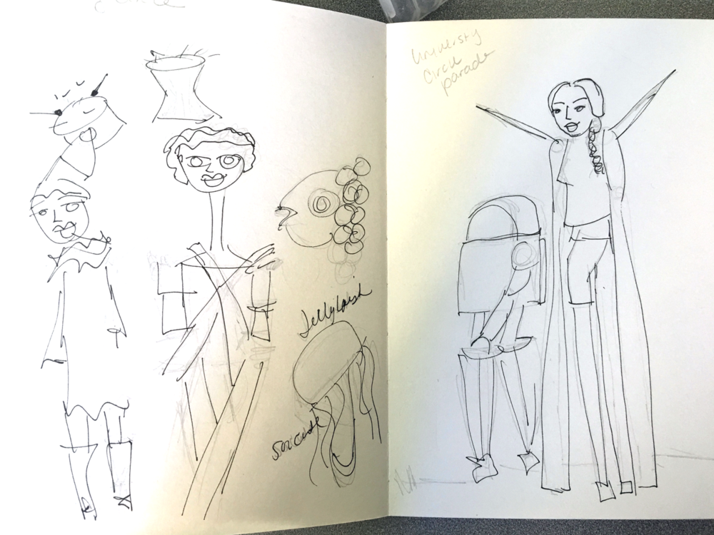 My sketches from the parade.