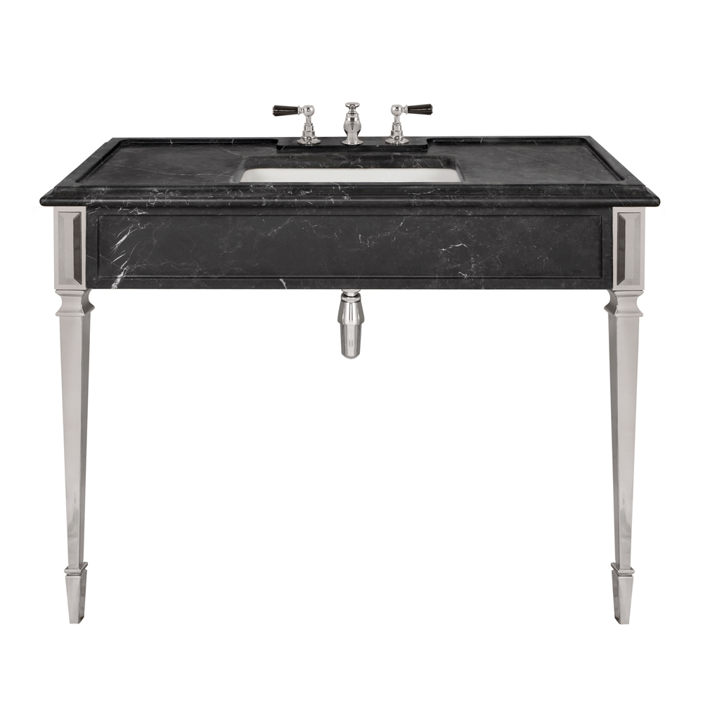 LB 6343 BK Mackintosh single black Marquina marble console