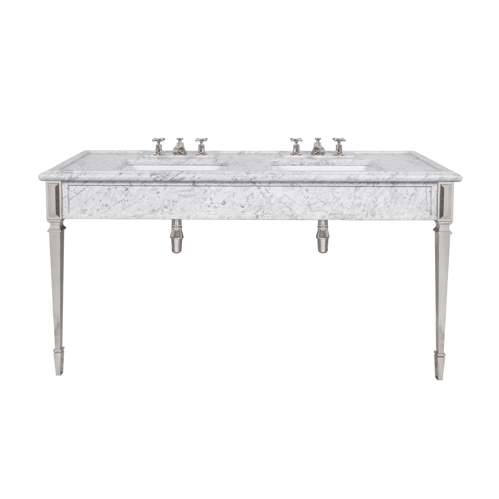 LB 6443 WH Mackintosh double white Carrara marble console