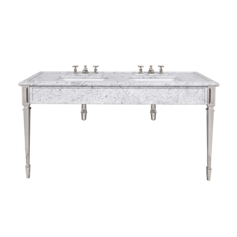 LB 6443 WH Mackintosh double white Carrara marble console