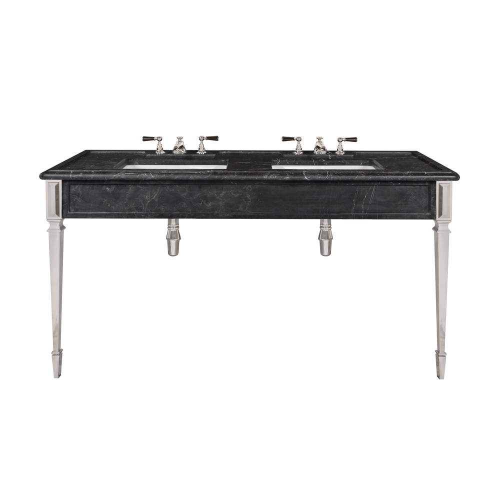 LB 6443 BK Mackintosh double black Marquina marble console