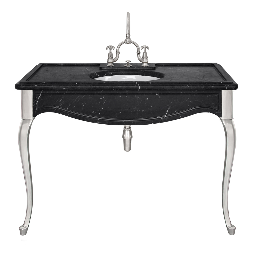 LB 6335 BK La Chapelle single black Marquina marble console