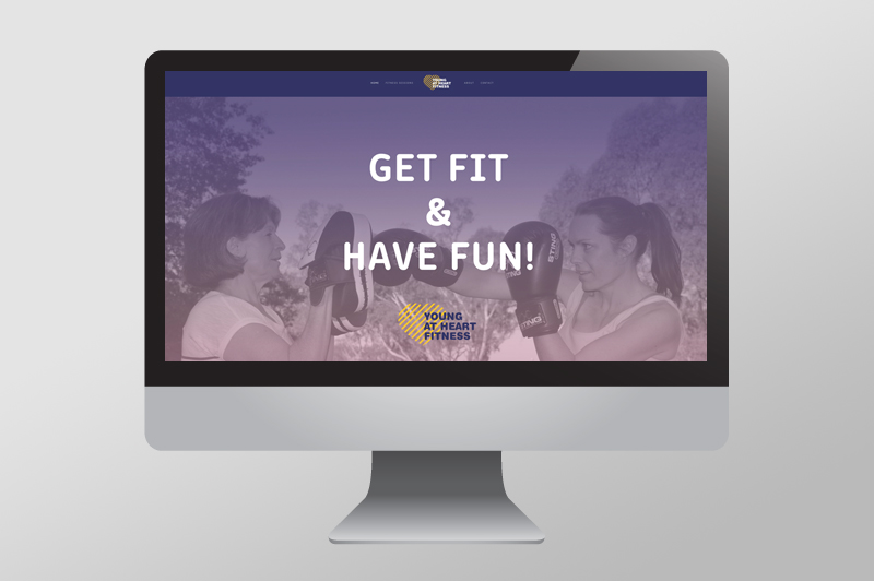 Young at Heart Fitness , Albury NSW New business branding –  See more