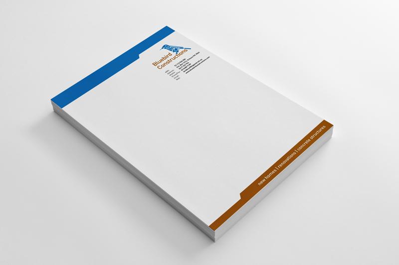 Bluebird Constructions , Echuca VIC New business branding –  See more