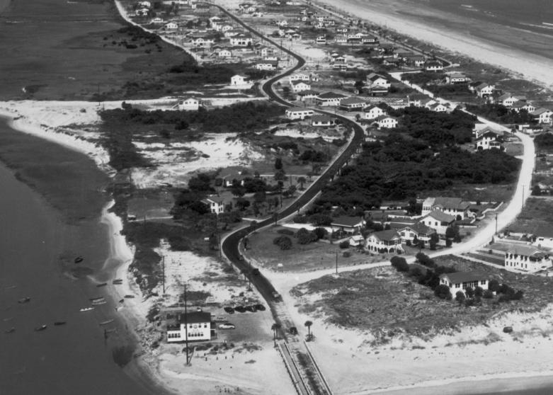 An aerial shot of Isle of Palms, 1949. (Photo courtesy The Beach Company)