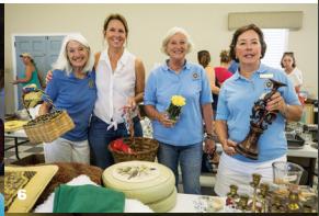 Barby Harrington, Deb Barr, Elizabeth Grantham and Pamela Marsh at the IOP Exchange Club Yard Sale