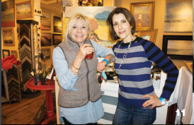 Stacey Sampson and Iris Kornhauser at Art on the Beach