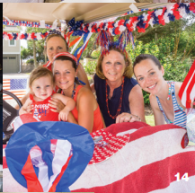 The Custer family at the IOP 4th of July Golf Cart parade