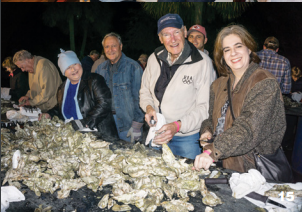 Nelson Durand and Sheila Regan at the IOP Exchange Club Oyster Roast