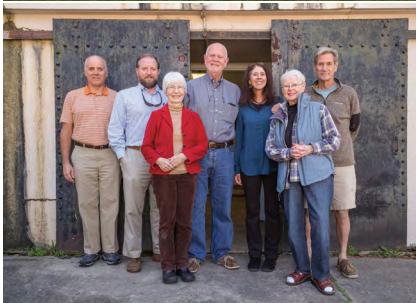 The Battery Gadsden Board: Carlsen Huey, Brandon Clark, Susan Middaugh, Mike Walsh, Adele Deas, program chair Rose-Marie Williams and Hal Coste.