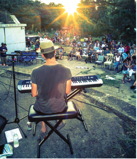 Brendan James, an American, piano-based singer/songwriter from Derry, New Hampshire, gives a concert at Battery Gadsden