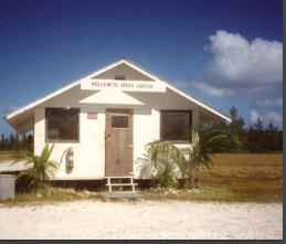 Rustic working conditions on Diego Garcia in the Indian Ocean, where Alice Bova was stationed during Operation Desert Storm, 1990.