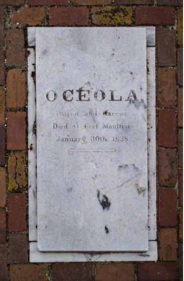 Osceola's grave outside Fort Moultrie on Sullivan's Island.