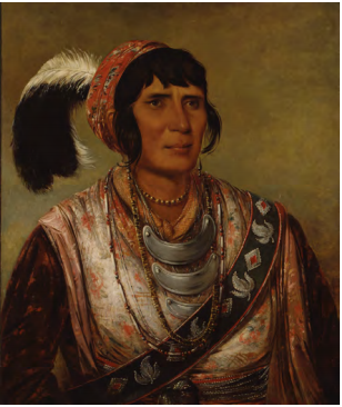 George Catlin, Os-ce-o-lá, The Black Drink, a Warrior of Great Distinction, 1838, oil on canvas, Smithsonian American Art Museum, Gift of Mrs. Joseph Harrison, Jr.