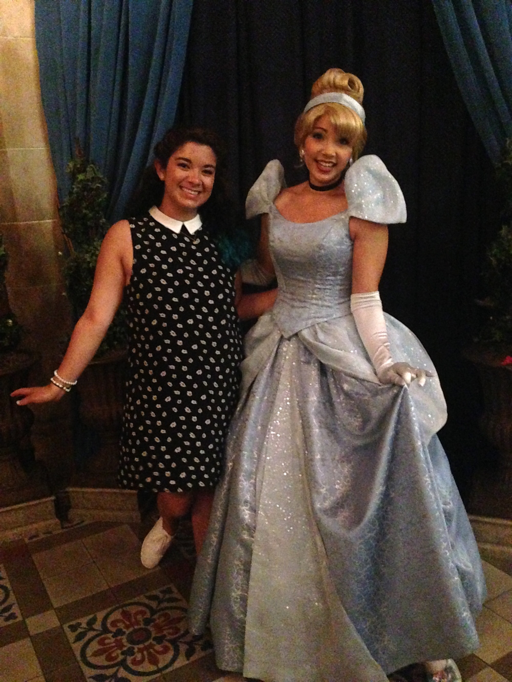 "Cinderella is a good foot taller than I am. When I asked her if she liked living in her castle she said ""Oh it's not my castle - it's Prince Charming's and he is kind enough to let me live here!""  UM WHAT CINDY?"