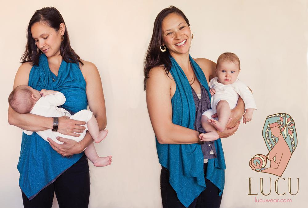 Olympic Gold Medalist (and Lucu model!) Catherine Fox with daughter Asha