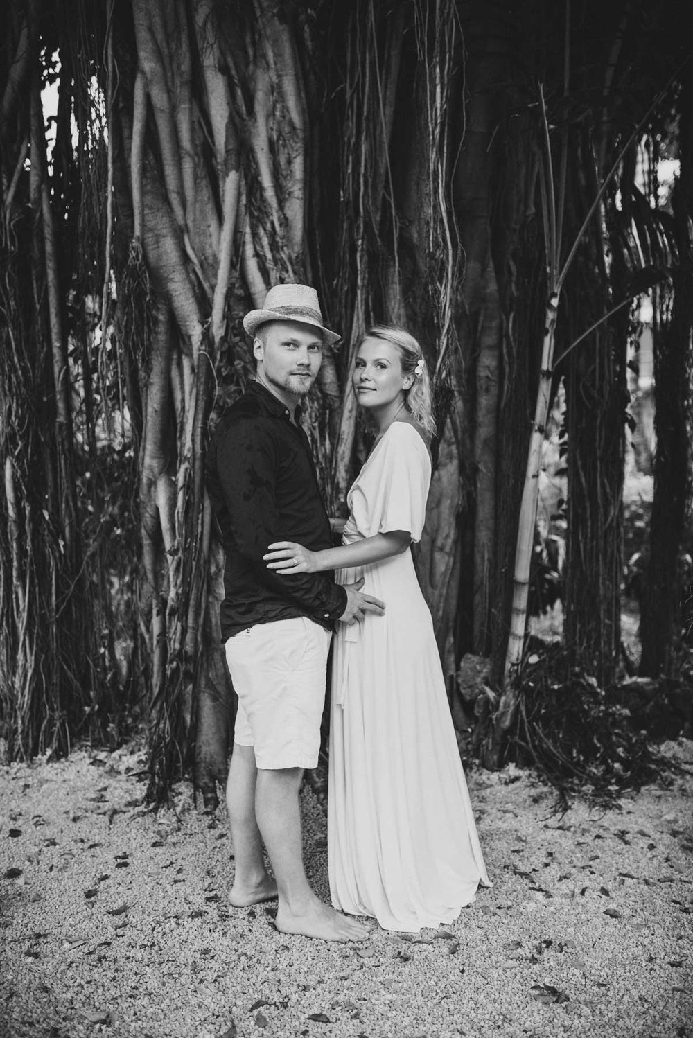 Copy of Sita Kelly | Mauritius Honeymoon Photographer | Couple in front of banyan tree