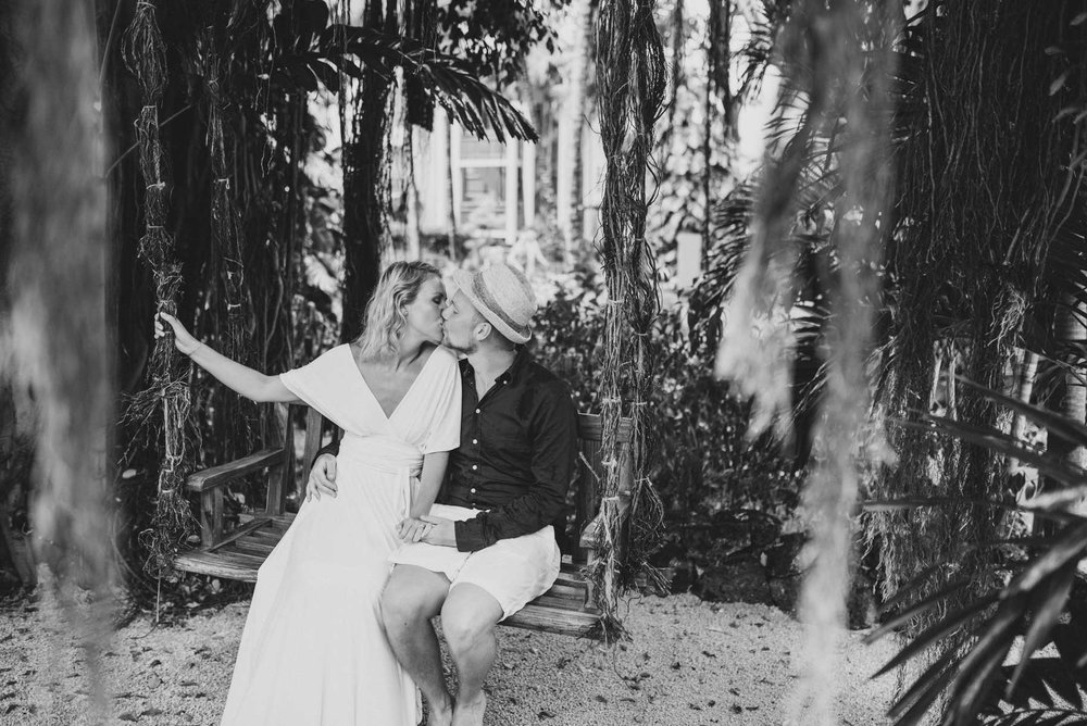 Copy of Sita Kelly | Mauritius Honeymoon Photographer | Couple kissing on swing
