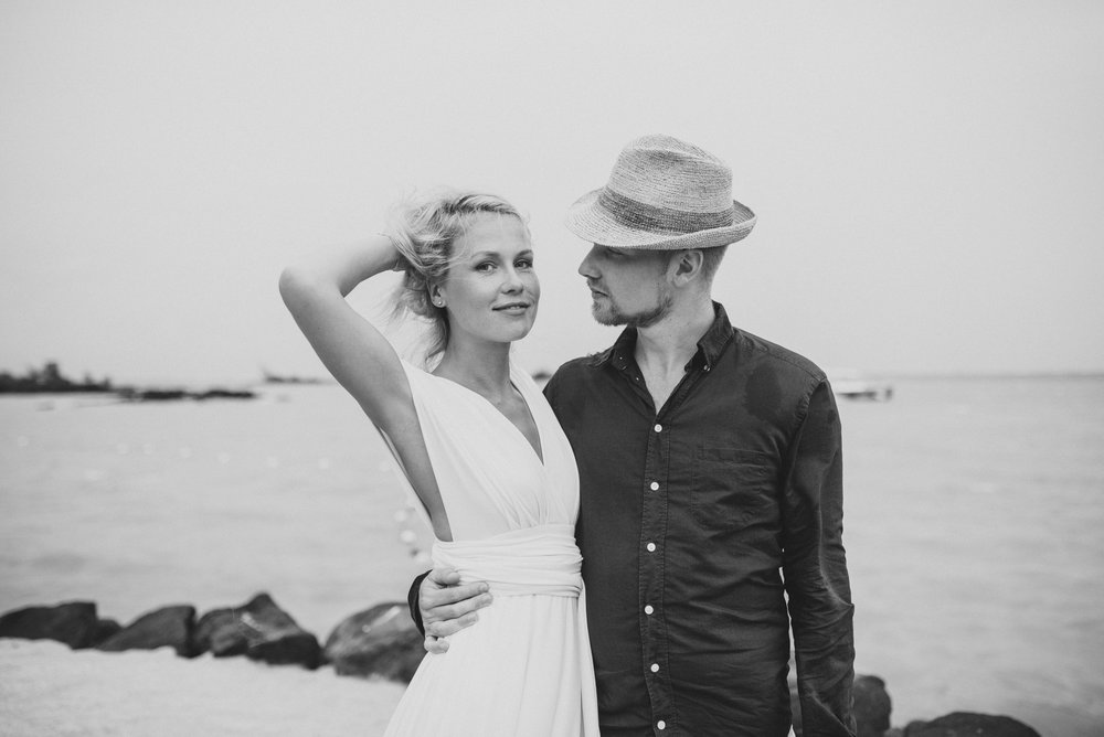 Copy of Sita Kelly | Mauritius Honeymoon Photographer | Woman in white dress with man in hat