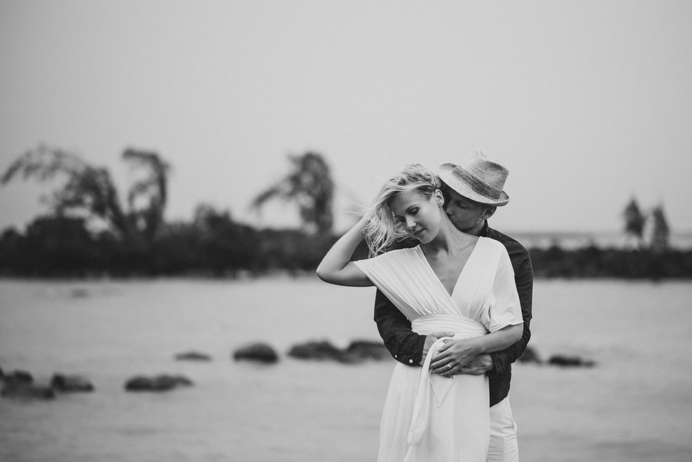 Copy of Sita Kelly | Mauritius Honeymoon Photographer | man embracing woman in wind