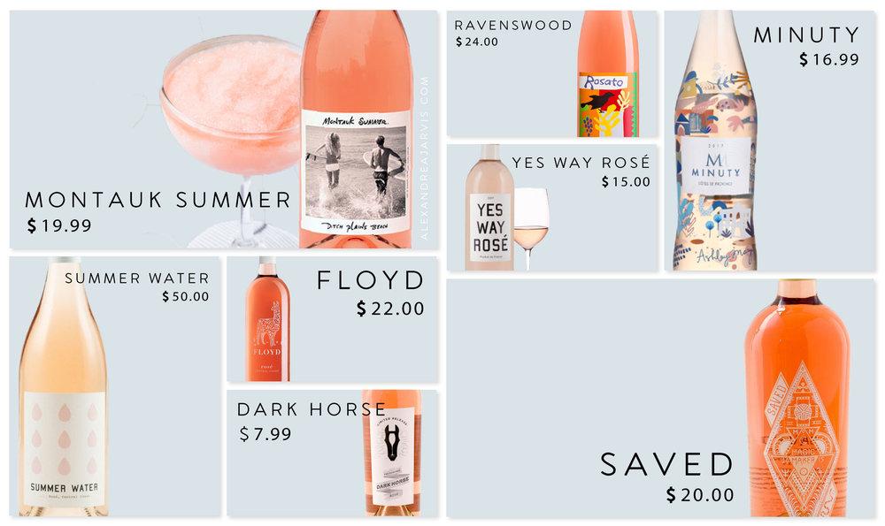 Best Summer Rosé, Rosé Royalty, Favorite Summer Rosé | Alexandrea Jarvis | Dinner Party Devotee