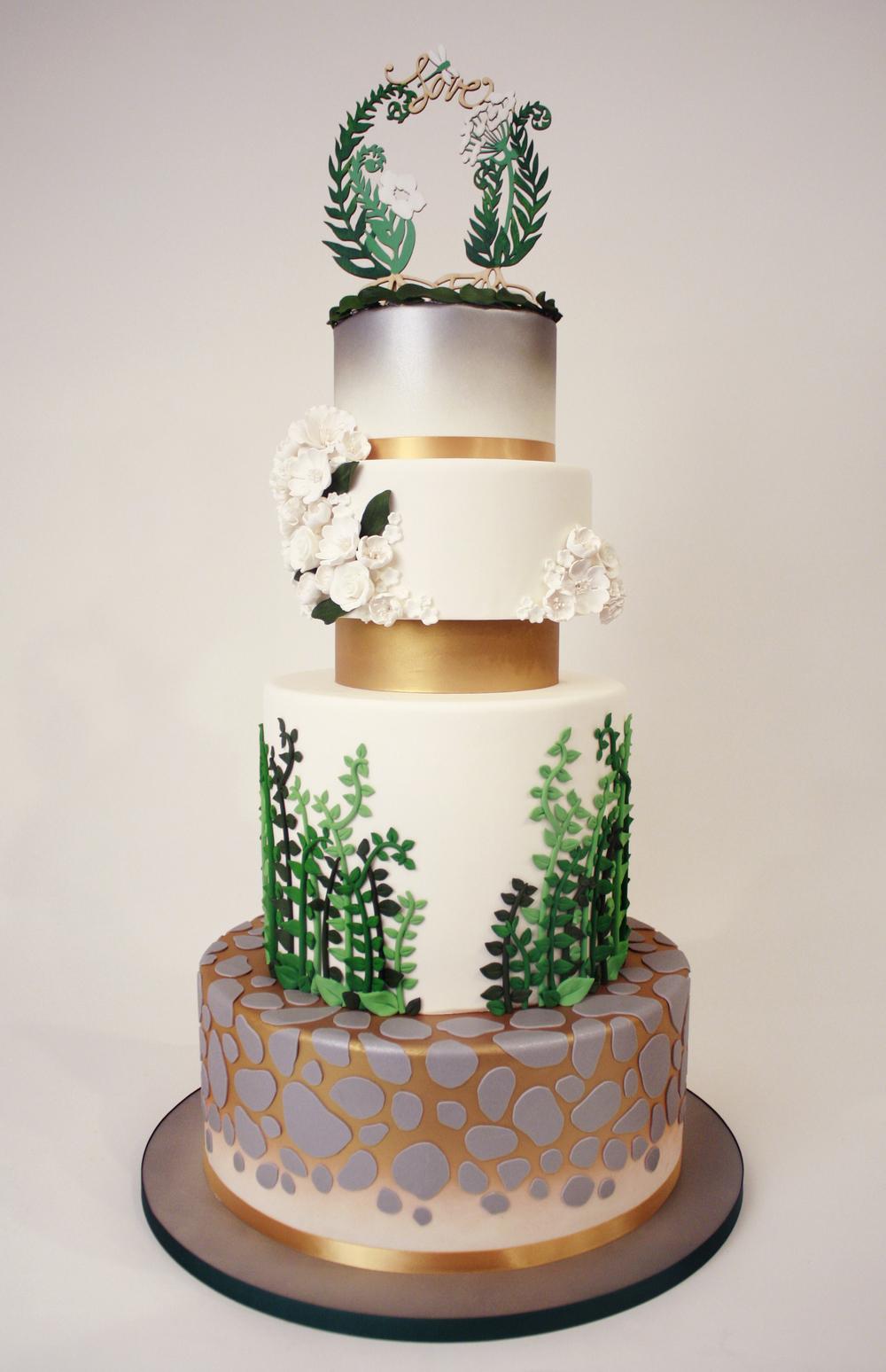 Button Wedding Cake