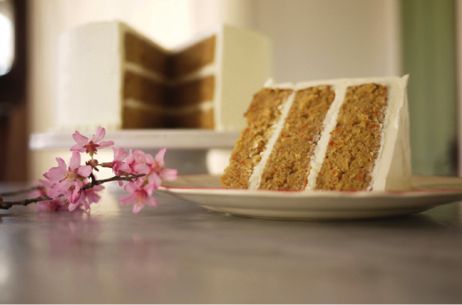 A sample of our carrot cake!