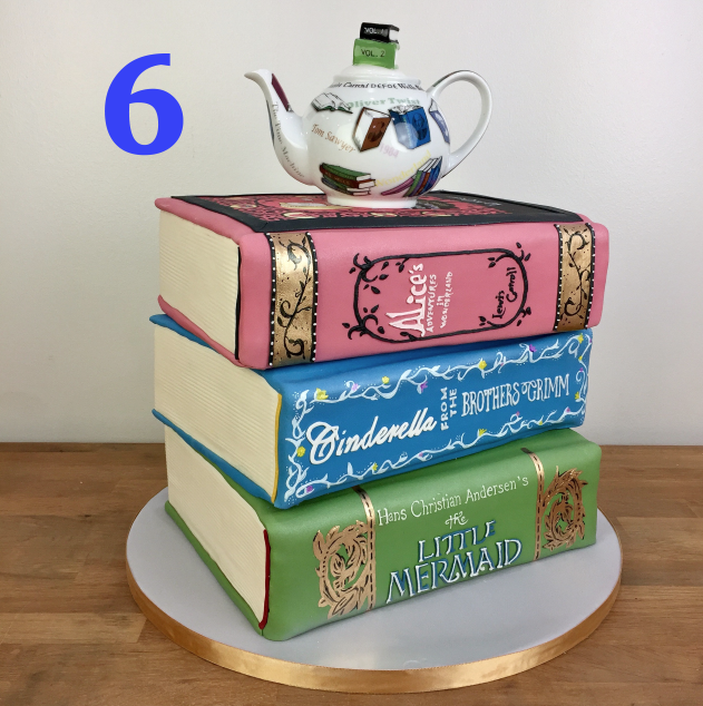 Like a good book, the this cake was not easy to forget. The classic style of book binding and the themed teapot worked together to capture the vibe of afternoon tea at the library. While making this cake, our LA cake decorators discussed their favorite books, books they were reading, and books they wanted to read. We love it when cake can influence life!