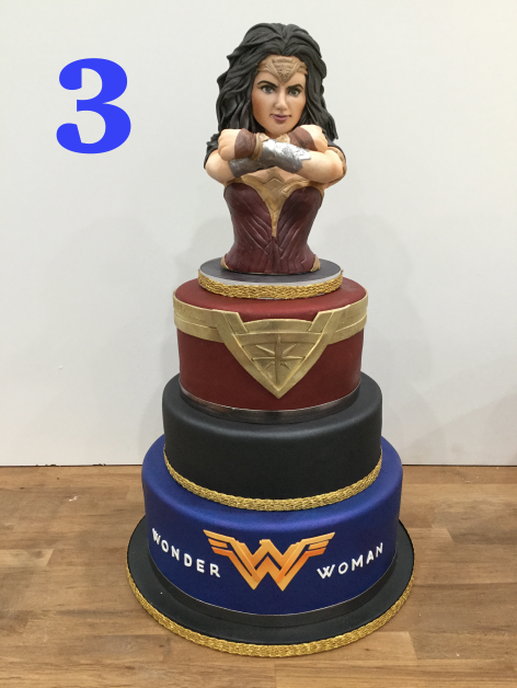 This year was all about girl power! Nothing says girl power more like Wonder Woman. We got our shields and swords ready and created this one of a kind cake for Oprah. She was so excited to place the topper on herself!