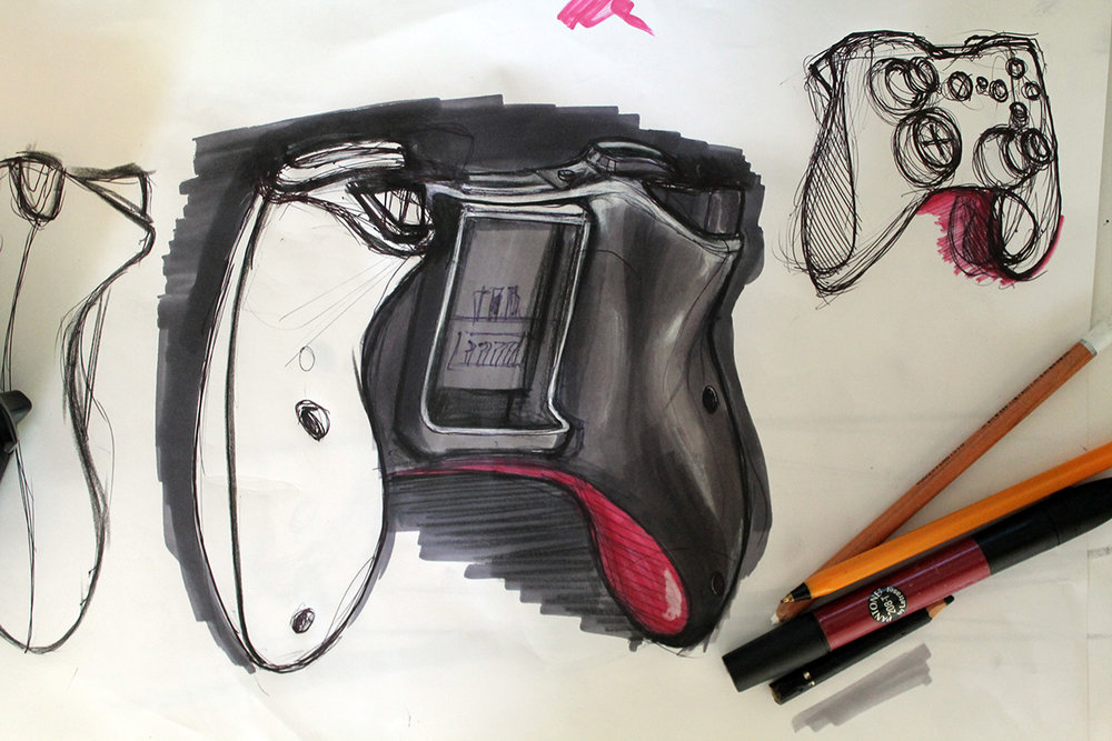 An Xbox gamepad, trying to increase my skill at using markers to shade.